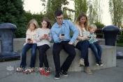 Modern Family Portrait with IPhones