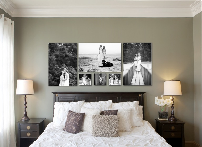 Triptych of Newborn Portraits; Wedding Portraits Wall Cluster ... & Wall Art ~ Boston Family Portrait Photography
